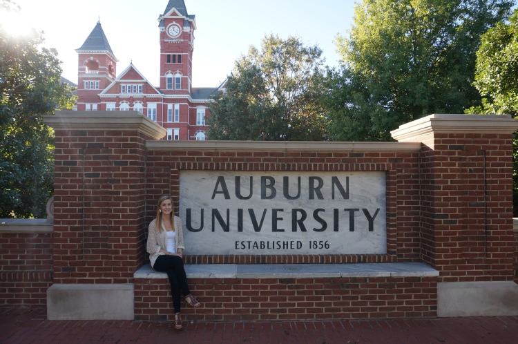 Ellie at Auburn University, Spring 2015.